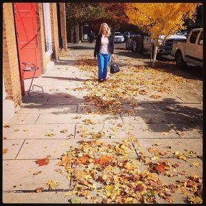 Mom in the leaves of November
